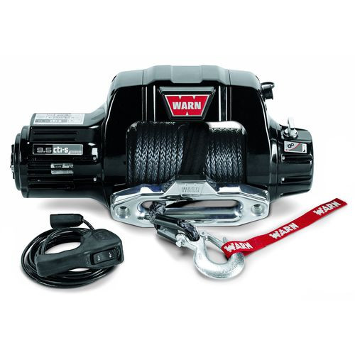 12 Volt 9500 LB Cap 100 Ft Synthetic Rope Hawse Fairlead Wired Remote - 97600