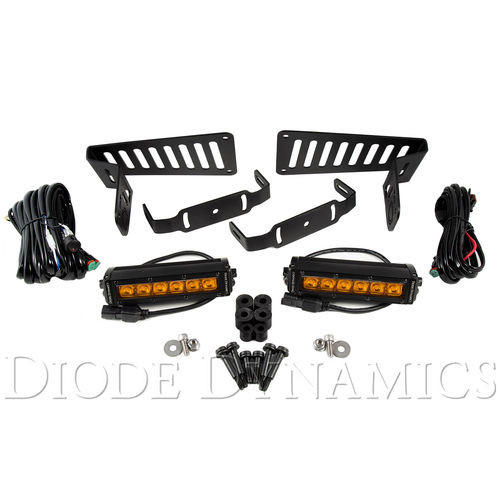 Jeep JL 2018-2019 Stage Series 6 Inch Cowl LED Kit Amber Driving Diode Dynamics - DD6094