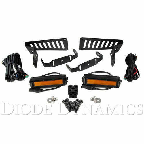 Jeep JL 2018-2019 Stage Series 6 Inch Cowl LED Kit Amber Flood Diode Dynamics - DD6095