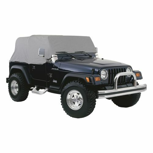 Water Resistant Gray Cab Cover for 1976-86 Jeep CJ-7; Fits Over Roll Bar - CC10009