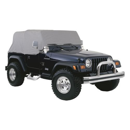 Water Resistant Gray Cab Cover for 92-06 Jeep YJ, TJ Wrangler w/o Unltd. Pkg. - CC10209