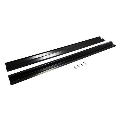 Gloss Black Powder Coated Stainless Steel Entry Guard Set for Jeep TJ Wrangler - RT26036