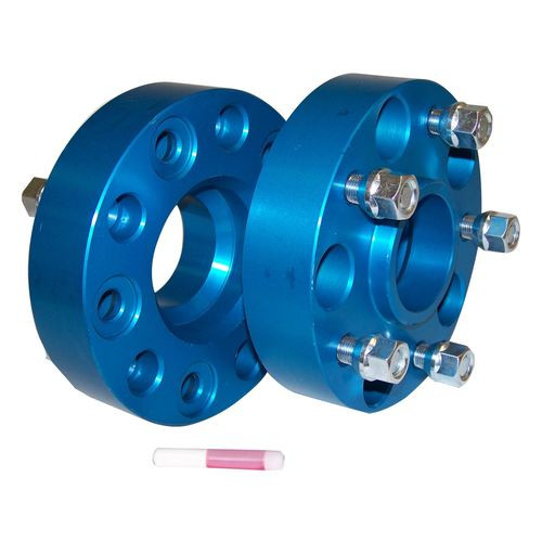"1.5"" Wide Blue Anodized Wheel Spacer Set for 99-19 Jeep JK, WJ, WK, XK - RT32004"