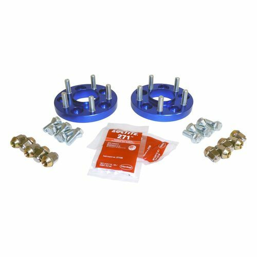 ".75"" Wide Blue Wheel Spacer Set for Jeep 15-18 BU Renegade, 14-18 KL Cherokee - RT32015"