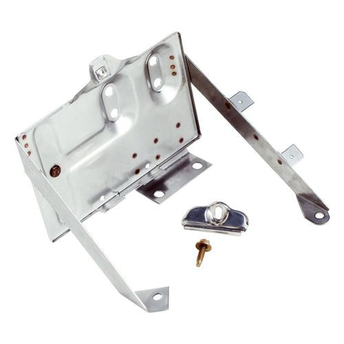 Stainless Battery Tray 76-86 Jeep CJ-5, CJ-7, CJ-8; Incl. Tray, Clamp and Bolt - RT34020