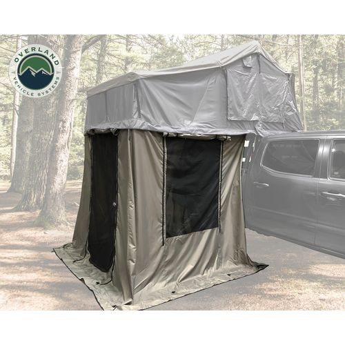 Roof Top Tent 4 Annex 100x80X82 Inch Green Base Black Floor and Travel Cover Nomadic Overland Vehicle Systems - 18049836