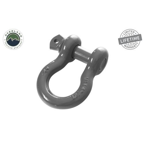 Recovery Shackle 3/4 Inch 4.75 Ton Gray Universal Overland Vehicle Systems - 19019903