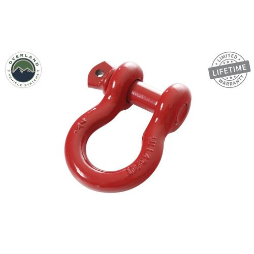 Recovery Shackle 3/4 Inch 4.75 Ton Steel Gloss Red Overland Vehicle Systems - 19019904