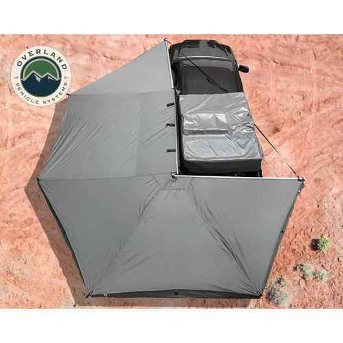 Awning Tent 270 Degree Driver Side Dark Gray Cover With Black Cover Nomadic Overland Vehicle Systems - 19519907