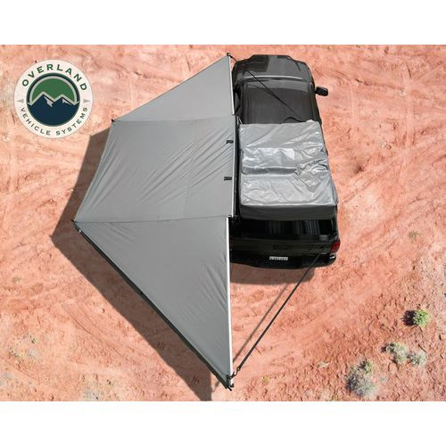 Awning Tent 270 Degree Passenger Side Dark Gray Cover With Black Cover Nomadic Overland Vehicle Systems - 19529907