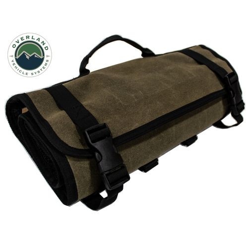 First Aid Bag Rolled Brown 16 Lb Waxed Canvas Canyon Bag Overland Vehicle Systems - 21109941