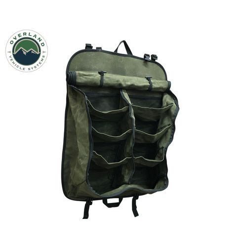 Camping Storage Bag 9 Storage Bins 16 Lb Waxed Canvas Overland Vehicle Systems - 21139941