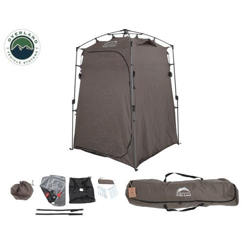 Portable Shower and Privacy Room Retractable Floor, Amenity Pouches 5x7 Foot Quick Set Up Overland Vehicle Systems - 26019910