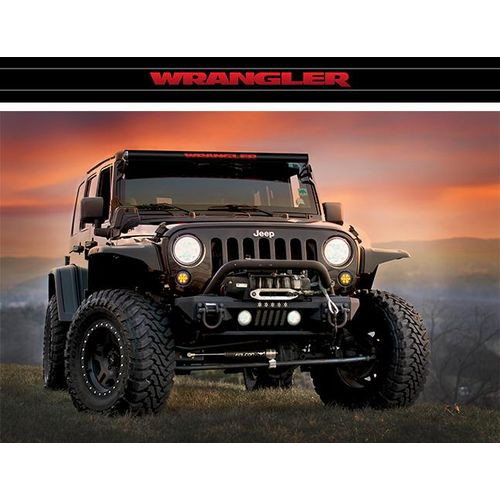 LED Light Bar Cover Insert Single Row 50 Inch Wrangler Red AeroLidz - WGLRR50S-HDWH