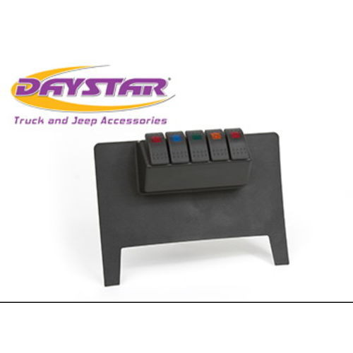11-17 Jeep Wrangler JK Lower Switch Panel W/ 4 Rocker Switches Black Daystar - KJ71038BK