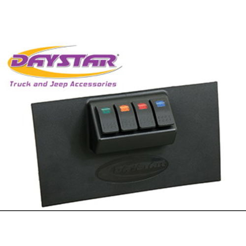 07-10 Jeep Wrangler JK Lower Switch Panel Including 4 Switches Daystar - KJ71040BK