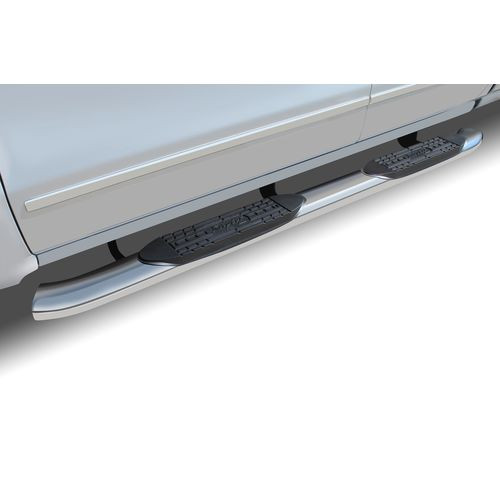 07-19 Toyota Tundra Regular Cab 5 Inch OE Style Curved Stainless Steel Oval Step Bars - 1604-0091