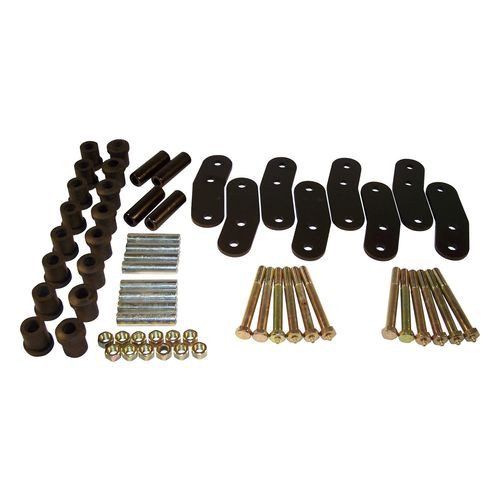"""Hd Shackle Kit, Left and Right, Front & Rear, Black, Greasable, 3/4"""" Lift - RT21023"""