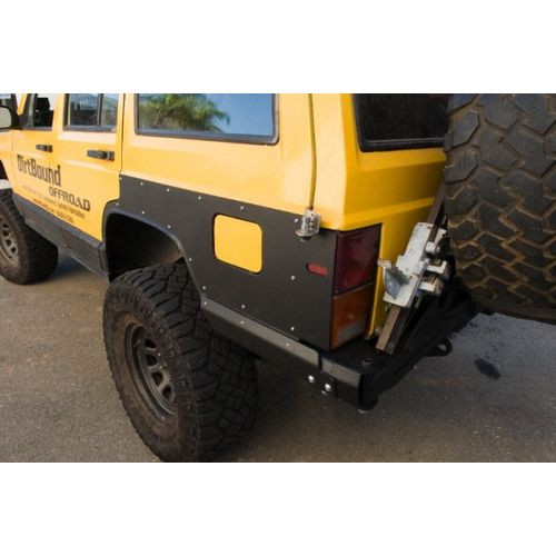 Jeep Cherokee Rear Quarter Panel Armor And Tail Light Guard 86-01 Cherokee XJ DirtBound Offroad - 1012008-HDND