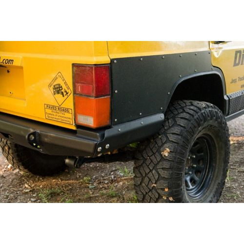 Jeep Cherokee Rear Bumper Mojave Cut and Fold 86-01 Cherokee XJ Bare Steel DirtBound Offroad - 1013012-HDND