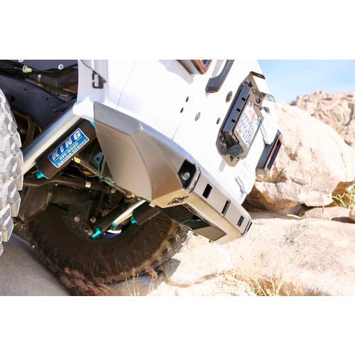 Jeep JL Rear Mid Width Bumper GTC Recessed Tow Hitch and Recessed Pods 18-Present Wrangler JL 2/4 Door Bare Steel Excessive Industries - EI60142424-HVLM