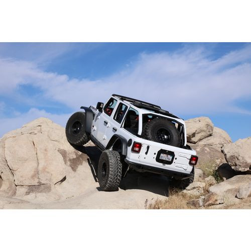 Jeep JL Tire Carrier 07-18 Wrangler JL Unlimited 4 Door Classic Gatekeeper With Accessory Panel Excessive Industries - EI70232-HVLM