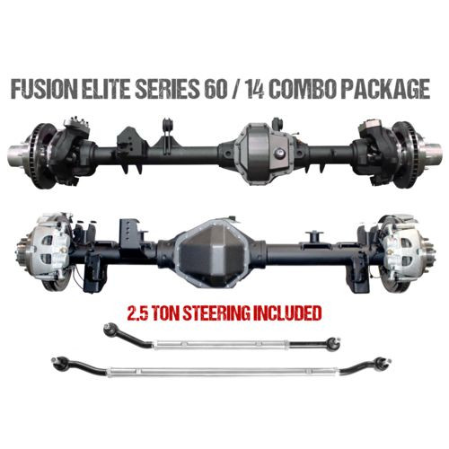 Jeep JL Axle Assembly Fusion Elite 60/Big Tube 14 Bolt Package 18-Pres Wrangler JL Gear Ratio 5.38 ARB Air Locker Fusion 4x4 - FUS-KPFF14-JL-ARB-538-HWRY