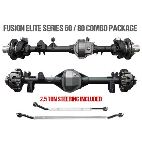 Jeep JL Axle Assembly Fusion Elite 60/80 Package 72 Inch 18-Pres Wrangler JL Gear Ratio 5.38 Auburn ECTED MAX E-Locker Fusion 4x4 - FUS-KPFF80-JL-ECT-538-HWRY