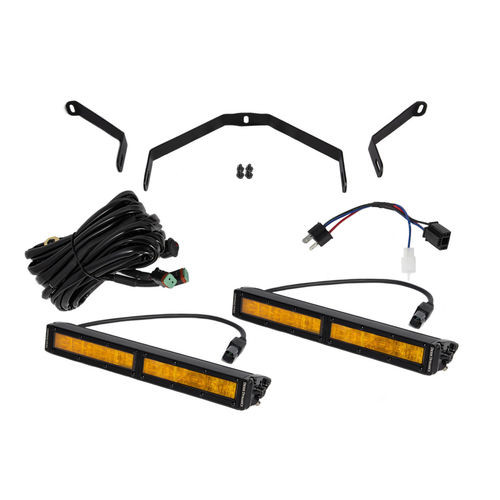 Tundra 12 Inch LED Driving Light Kit Amber Wide Diode Dynamics - DD6068
