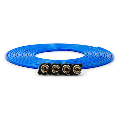 Tire Inflator Hose Replacement 240 Inch W/4 Quick Release Chucks Blue UP Down Air - 340-4100-BLU