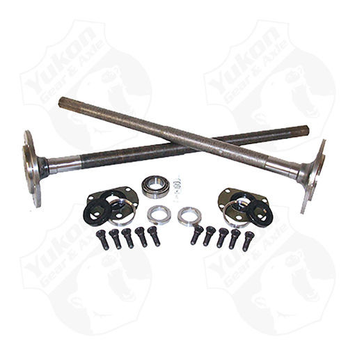 One Piece Axles For 76-79 Model 20 CJ7 Quadratrack With Bearings And 29 Splines Kit Yukon Gear & Axle - YCJQ