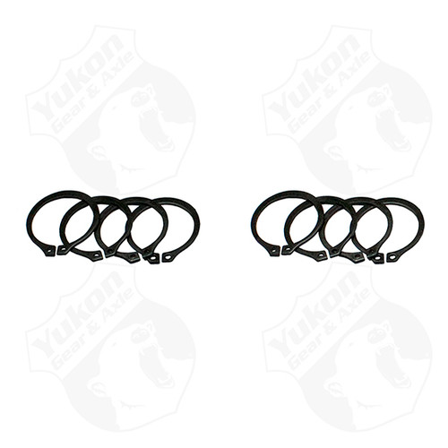 4 Full Circle Snap Rings Fit 297X U-Joint With Aftermarket Axle Yukon Gear & Axle - YP SJ-297X-501