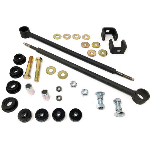 Front Sway Bar End Link Kit 11-19 Chevrolet Silverado/GMC Sierra 2500HD/3500HD 4x4 Fits with 6 Inch Lift Kit Tuff Country - 10957-BKFW