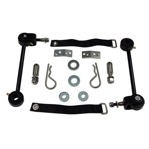 Front Sway Bar Quick Disconnects 87-01 Jeep Cherokee XJ Pair Tuff Country - 41805-BKFW