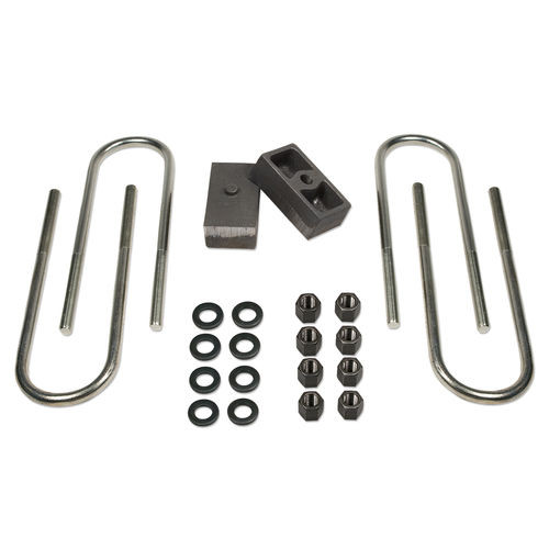 1.5 Inch Rear Block & U-Bolt Kit 73-87 Chevy Truck/GMC Truck/73-91 Suburban/Tahoe/Jimmy 1/2 Ton 4WD Tuff Country - 97003-BKFW