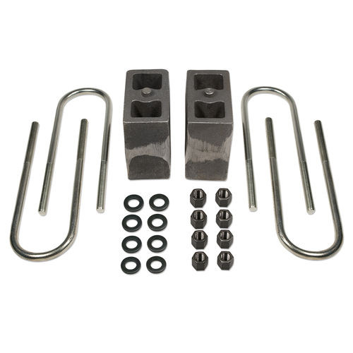 5.5 Inch Rear Block & U-Bolt Kit 99-16 Ford F250/F350 4WD with Factory Overloads Non-Tapered Tuff Country - 97064-BKFW