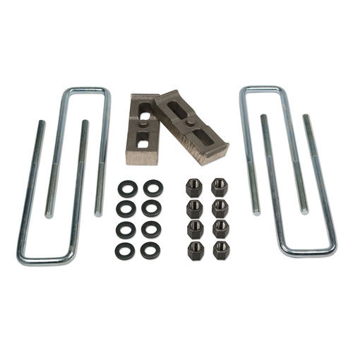 1 Inch Rear Block & U-Bolt Kit 11-19 Silverado/Sierra 2500HD/3500/3500HD 4WD Tuff Country - 97090-BKFW
