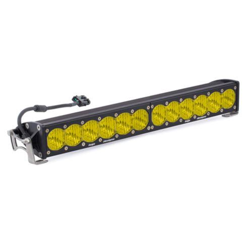20 Inch LED Light Bar Single Amber Straight Wide Driving Combo Pattern OnX6 Baja Designs - 452014