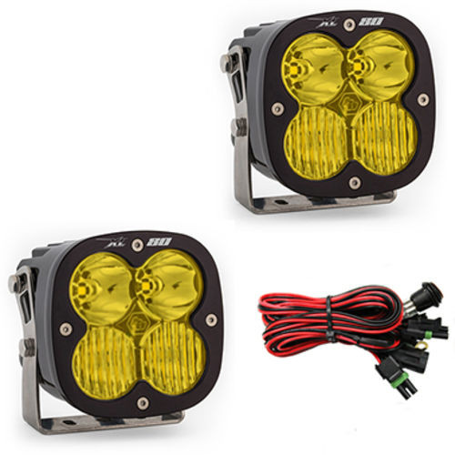 LED Light Pods Amber Lens Driving Combo Pattern Pair XL80 Series Baja Designs - 677813