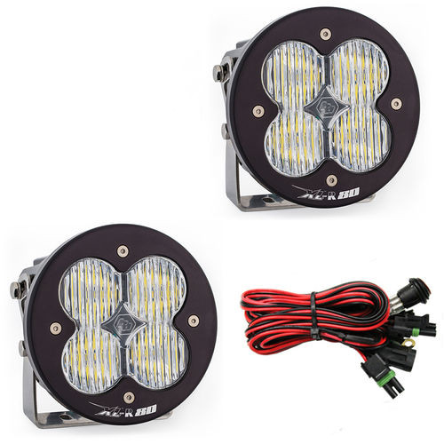 LED Light Pods Wide Cornering Pattern Pair XL R 80 Series Baja Designs - 767805
