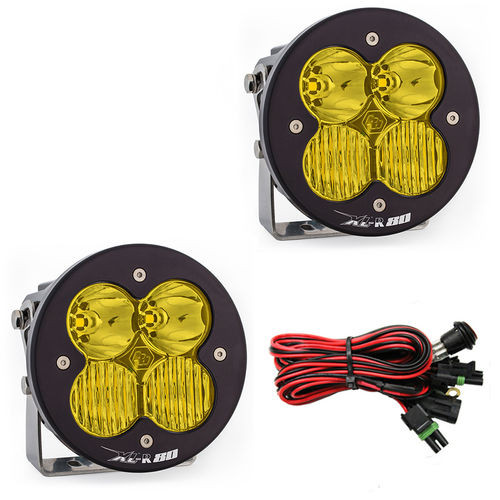 LED Light Pods Amber Lens Driving Combo Pattern Pair XL R 80 Series Baja Designs - 767813