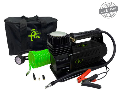 Air Compressor System 5.6 CFM With Storage Bag Hose & Attachments Single Motor Up Down Air - 12099917
