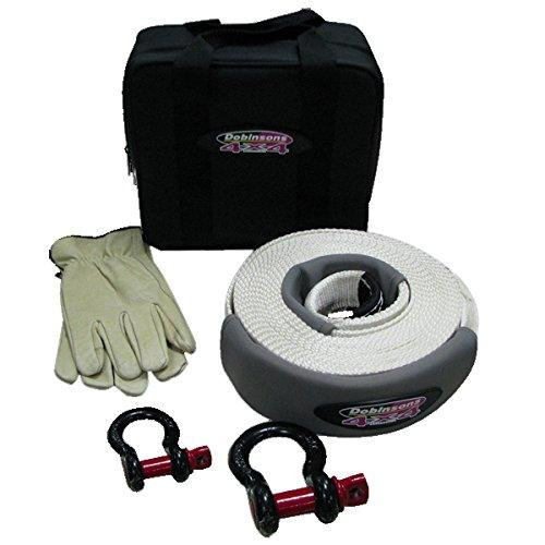 """Dobinsons 4x4 Complete Snatch Tow Strap Kit with 3"""" x 30 FT Strap, Shackles and Bag(SS80-3804)"""