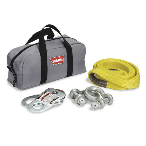 With Two Shackles; Snatch Block; Load Strap and Gear Bag; Gray - 70792