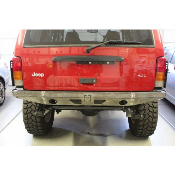 Jeep Cherokee DIY Mojave Rear Bumper Cut And Fold 86-01 Jeep Cherokee XJ Bare Steel Fortress 4x4 - 1014001-HDND