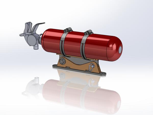 Extinguisher & Weld-It Fire Extinguisher Mount