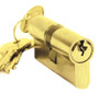 Austyle Double Euro Cylinder PB 65mm Polished Brass 9144