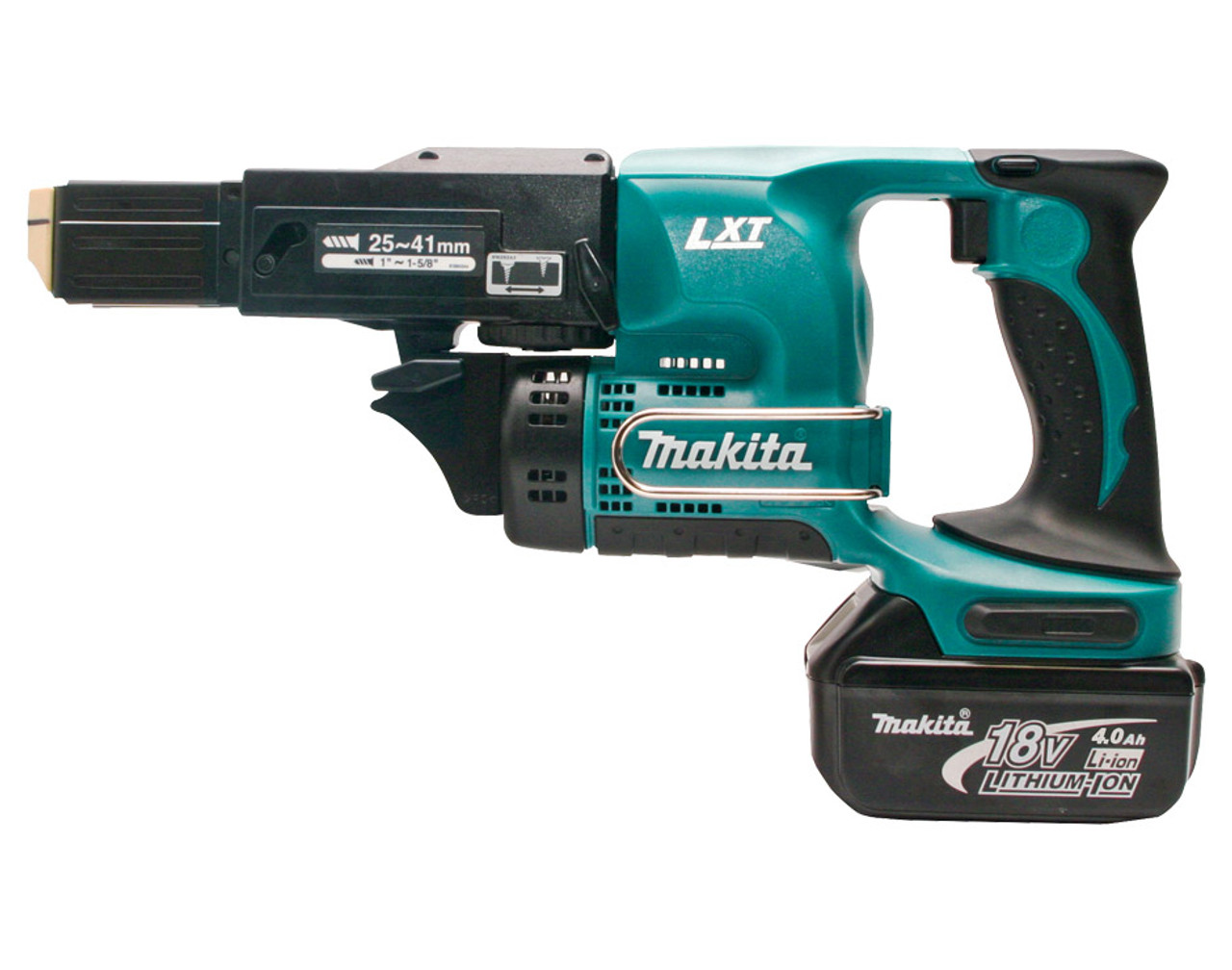 Makita Mobile Auto Feed Screwdriver, 18V Li-Ion, 2 x 4.0Ah Batteries, Charger & Carry Case DFR450RMEX