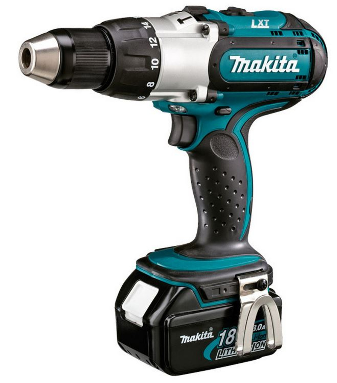 Makita Mobile Driver Drill 13mm (3 Speed), 18V Li-Ion, 2 x 3.0Ah Batteries, Charger & Carry Case DDF451RFE