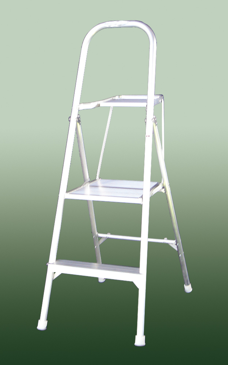 Indalex Platform Ladder Aluminium 100KG 1.4m 0.6m Domestic DP264